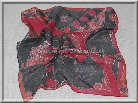 Hodvábna šatka 55x55 cm - ručne maľovaná