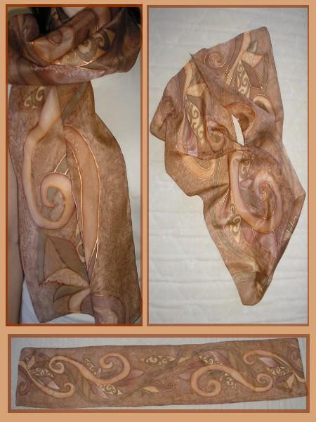 Hodvábny šál - ručne maľovaný