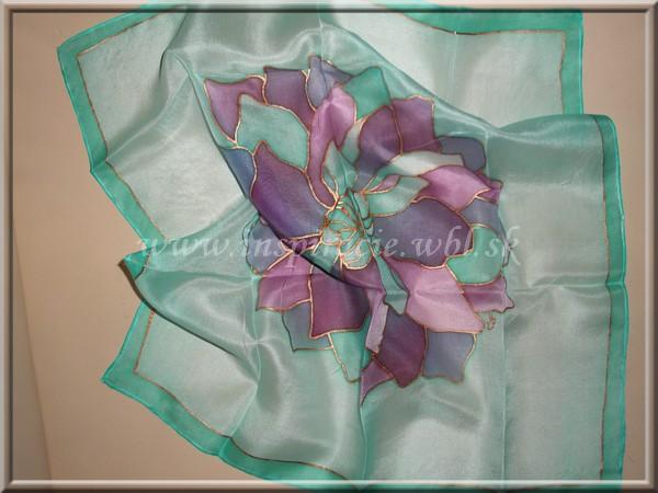 Hodvábna šatka 45x45 cm - ručne maľovaná