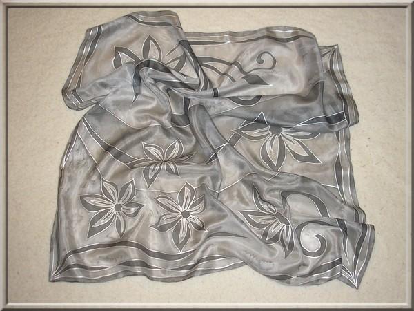 Hodvábna šatka 74x74 cm - ručne maľovaná