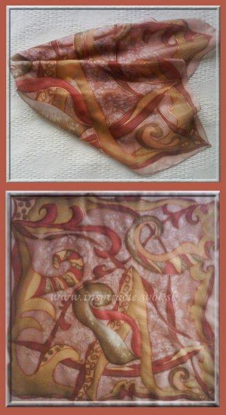 Hodvábna šatka-74x74 cm