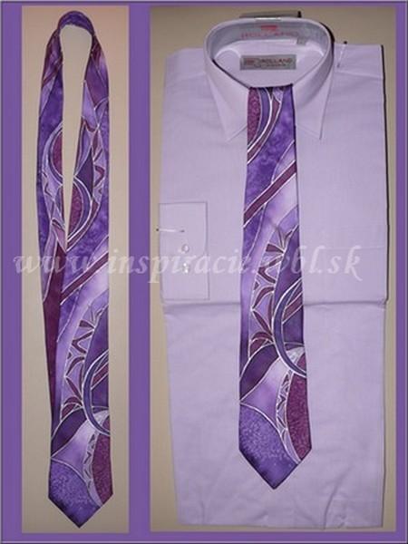 Hodvábna kravata - ručne maľovaná