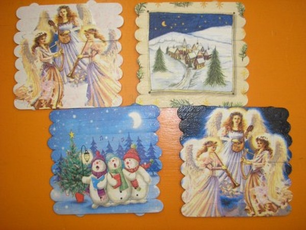 Paličkové obrázky - Majko, Libor, Laura,